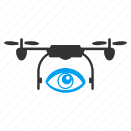 mobile agent, quadcopter, secret service, security, spy drone, unmanned aerial vehicle, watch icon