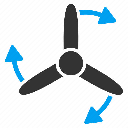 conditioner, fan, motor, rotate, rotation, rotor, three bladed screw icon