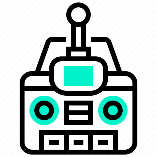 controller, device, drone, remote, transmitter icon