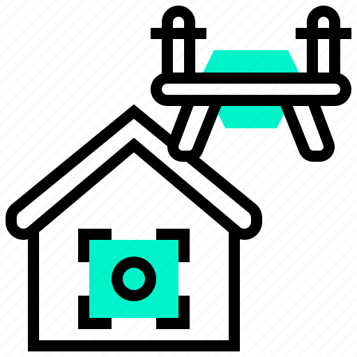 drone, fly, home, location, remote icon