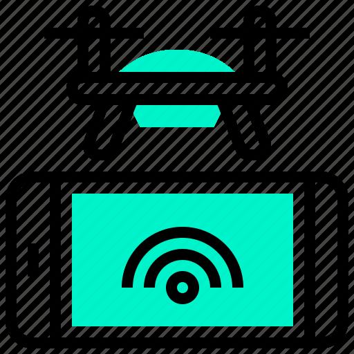 aircraft, control, drone, remote, smartphone icon