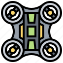 agricultural, aircraft, drone, quadcopter icon