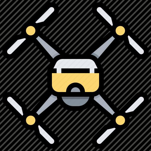aircraft, autonomous, drone, unmanned, vehicle icon