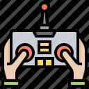 control, drone, remote, system, toys icon
