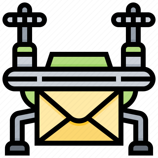 delivery, drone, infomation, mail, shipment icon