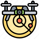 control, distance, drone, radar, remote icon