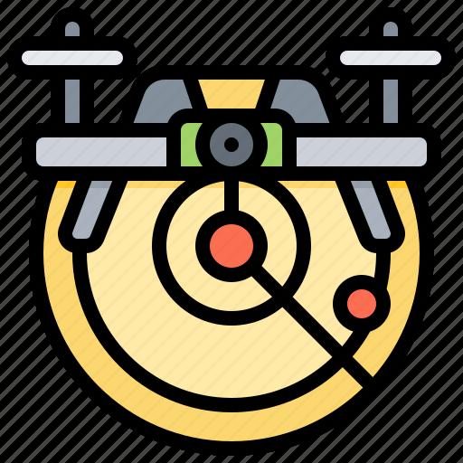 control, distance, drone, radar, remote icon