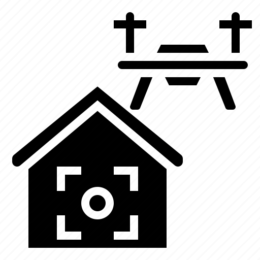 drone, fly, home, location, remote icon