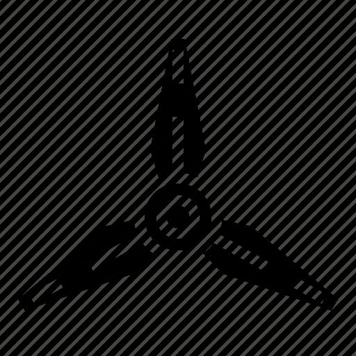 aircraft, blades, propeller, spin, three icon