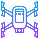 drone, explorer, quadcopter, scouting, technology icon