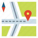gps, location, marker, navigation icon