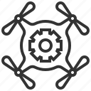device, drone, equipment, mechanic, mobile, technology icon