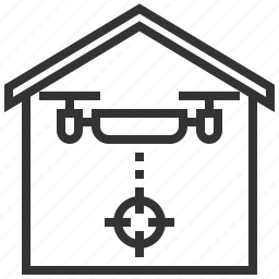 drone, equipment, home, house, lock, protection, security icon