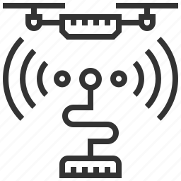 communication, connection, drone, equipment, frequencies, radio, technology icon