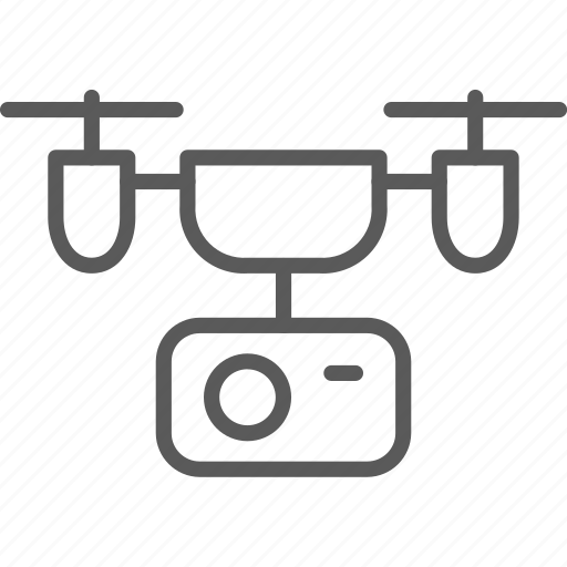 action, aerial, aircraft, camera, delivery, drone icon