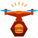 device, drone, food, hamburger, restaurant, technology icon