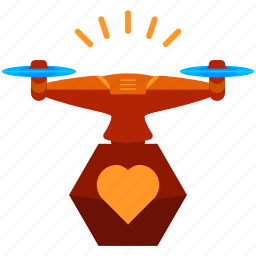 device, drone, favourite, heart, like, technology icon