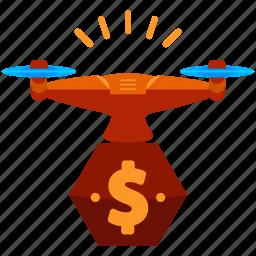 drone, finance icon