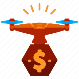 device, dollar, drone, finance, money, technology icon