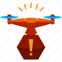 alert, device, drone, notification, technology, warning icon