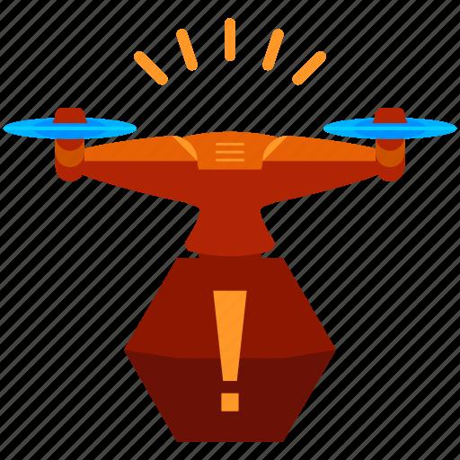alert, drone icon