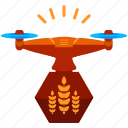 crops, device, drone, organic, technology icon