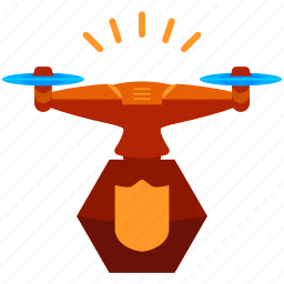 device, drone, safety, secure, security, technology icon
