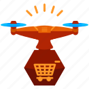 cart, device, drone, shopping, technology icon