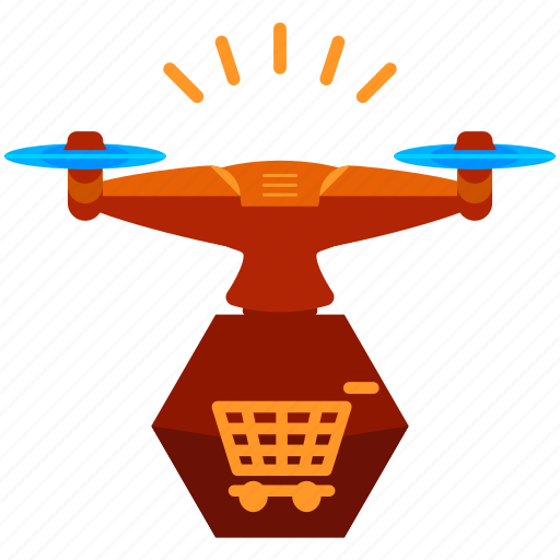 cart, drone, shopping icon