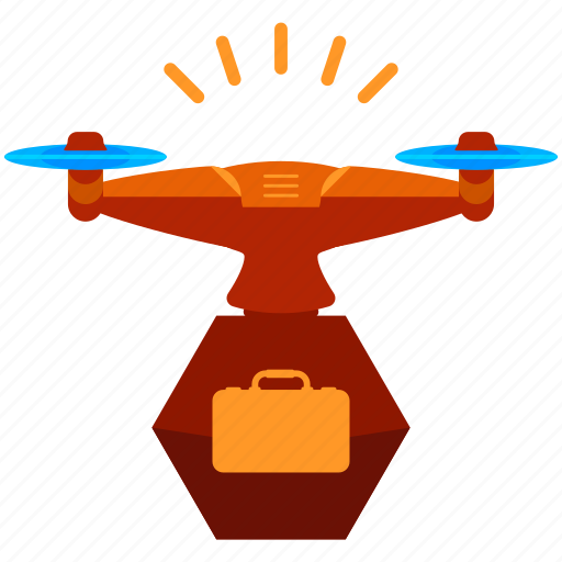 baggage, device, drone, luggage, suitcase, technology icon