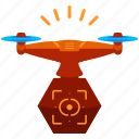 device, drone, target, technology, view icon