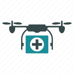 aircraft, ambulance, drone, emergency, medical, nanocopter, quadcopter icon
