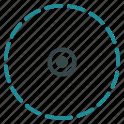area, circle, location, radial, radius, region, zone icon