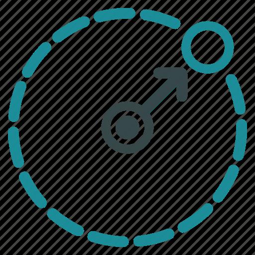 area, border, limit, radial, radius, region, size icon