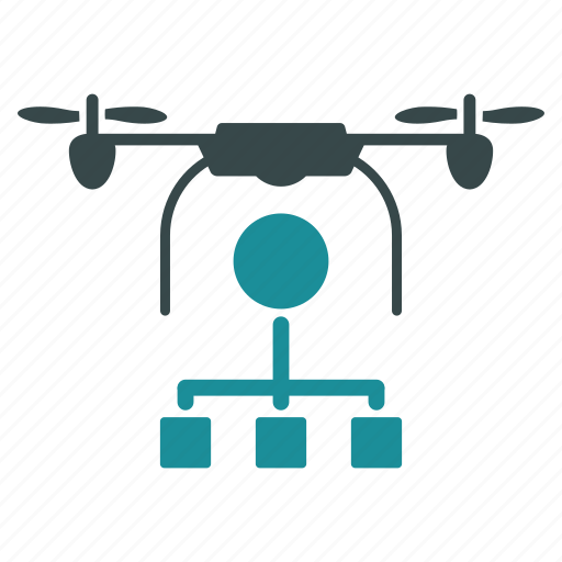air copter, aircraft, distribution, drone, nanocopter, quadcopter, transport icon