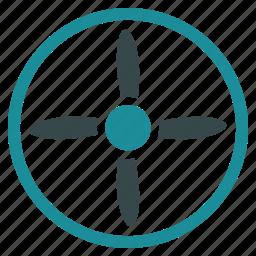 aircraft, drone, flight, nanocopter, quadcopter, screw, turbine icon