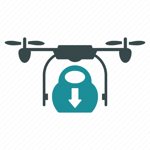 aircraft, cargo, delivery, drone, drop, nanocopter, quadcopter icon