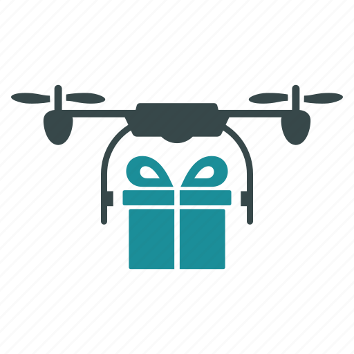 aircraft, delivery, drone, gift, nanocopter, package, quadcopter icon