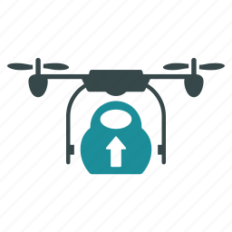 aircraft, cargo, drone, load, loading, nanocopter, quadcopter icon