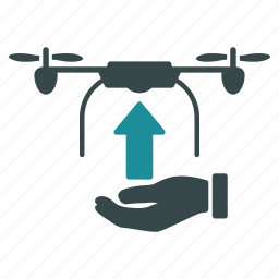 aircraft, drone, flight, load, nanocopter, quadcopter, start icon