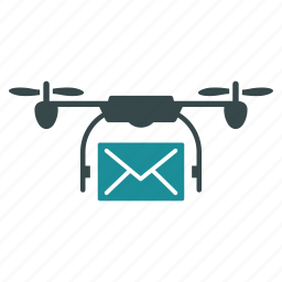 aircraft, delivery, drone, mail, message, nanocopter, quadcopter icon