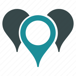 direction, gps, location, map markers, navigation, places, pointers icon