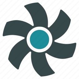 cooler, fan, propeller, rotor, screw, turbine, ventilator icon