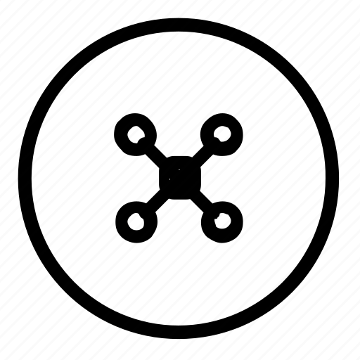 circle, copter, drone icon