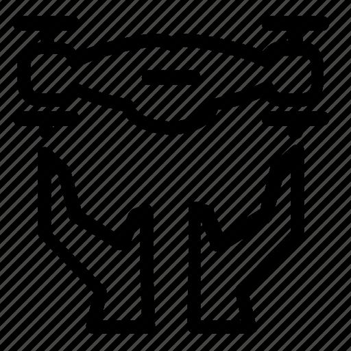 copter, drone icon