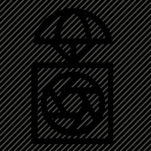airdrop, camera, delivery, lens icon