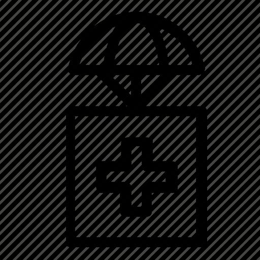 airdrop, delivery, health, medical icon