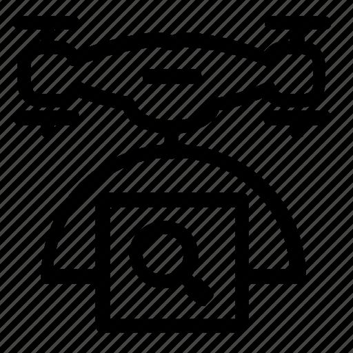 drone, find, search icon
