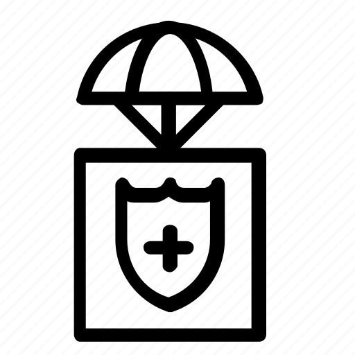 airdrop, parachute, protection, secure icon