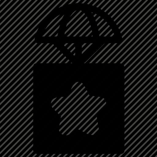 airdrop, bookmark, delivery icon